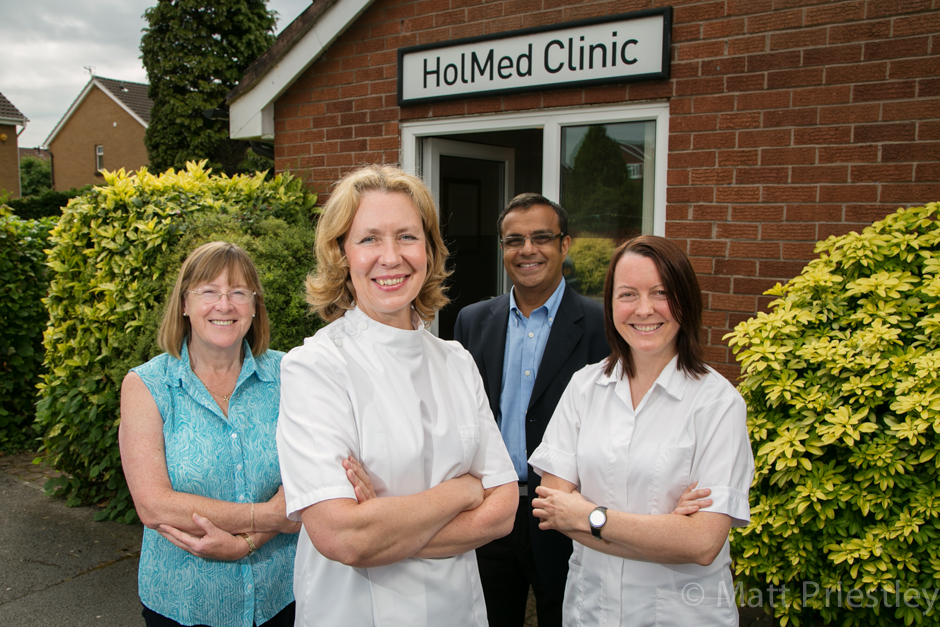 Promotional commercial photography for the Hol-Med alternative therapy clinic, Didsbury Manchester