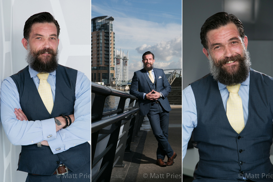 Business portraits and head shots for DataCentred, Media City, Salford